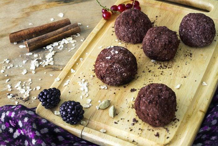 Des truffes au chocolat santé faibles en calories