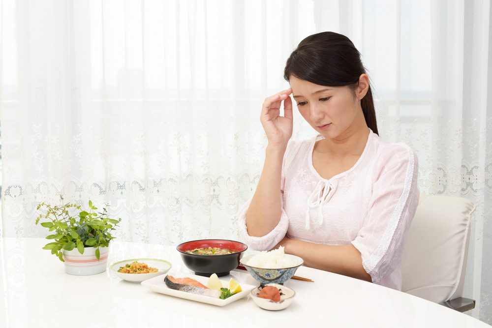 Symptôme de cancer féminin: perte d'appétit.