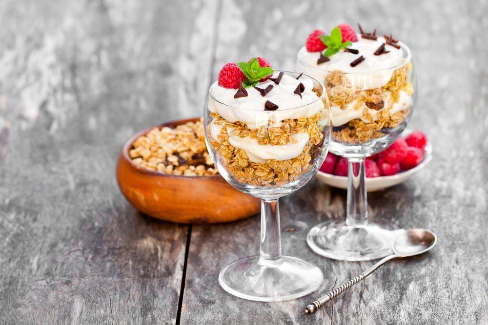 Coupes granola santé pour perdre du poids
