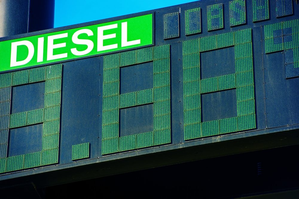 Avantage #2de la voiture à moteur diesel: Prix du litre à la pompe