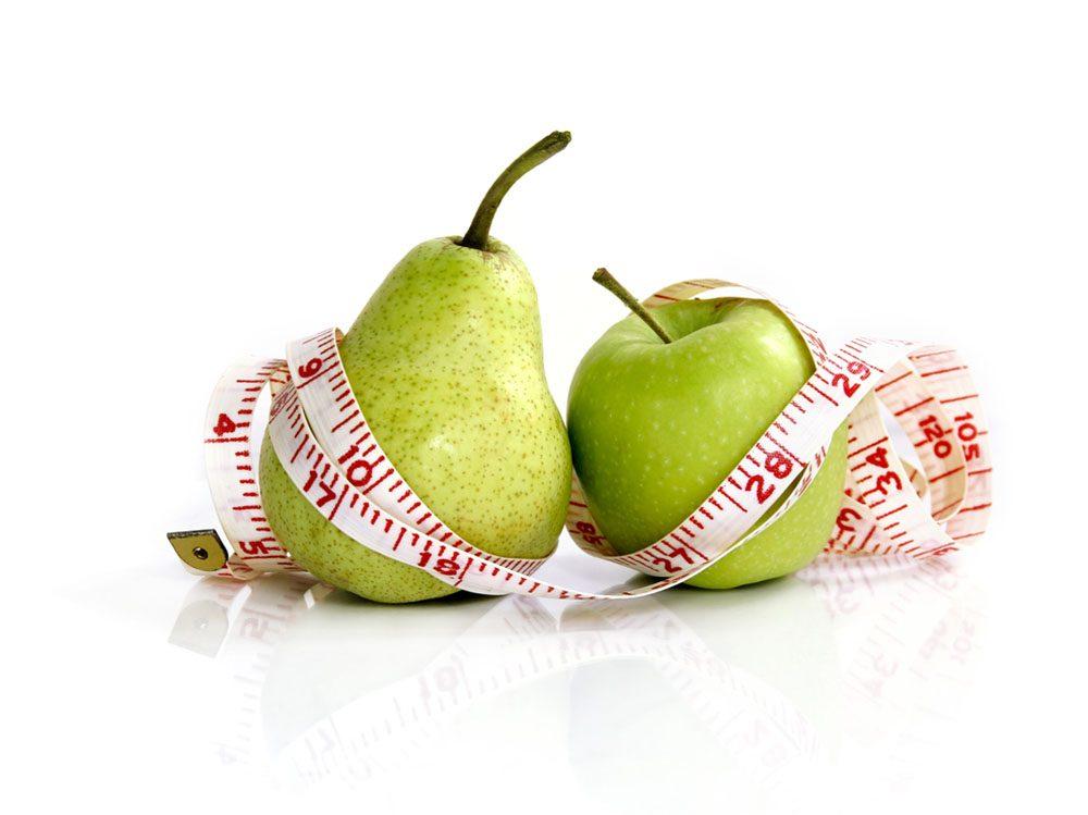 Manger certains fruits et légumes aident à perdre du poids.