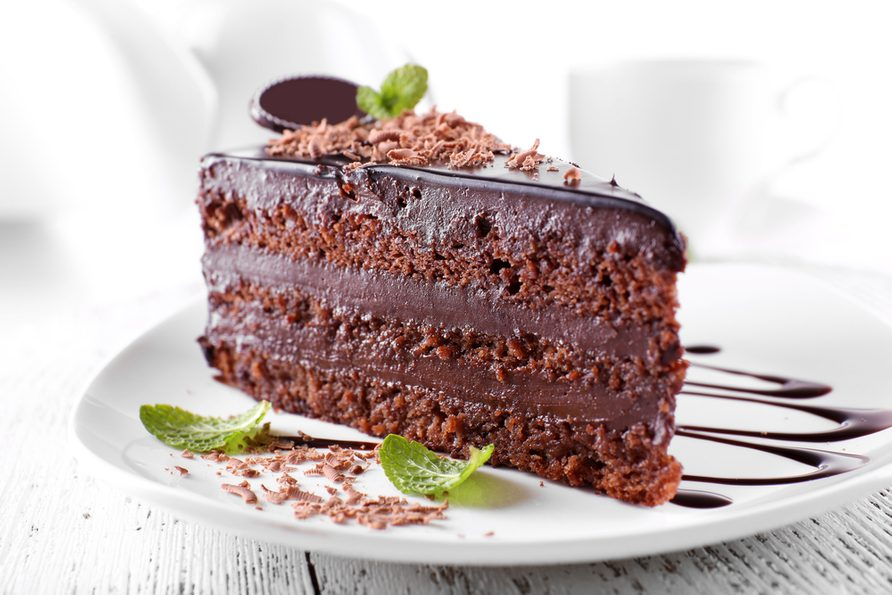 Gâteau suprême au chocolat faible en gras.