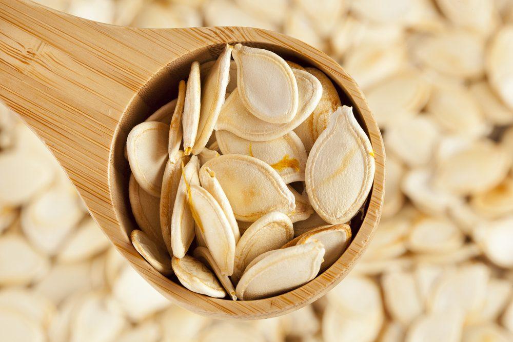 Les graines de citrouille sont riches en fibres.