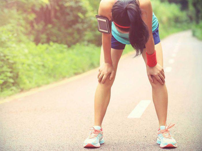 Manger trop de sucre vous fait vous effondrer aprés une séance d'entrainement.
