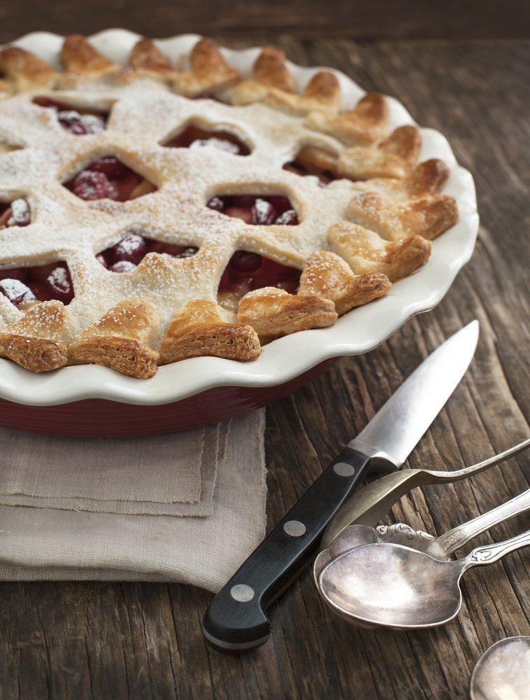 Essayez notre meilleure recette de tarte à la pomme et aux canneberges.