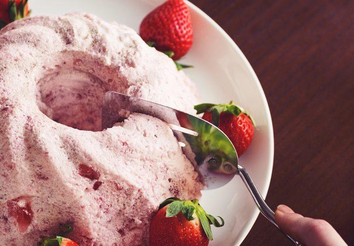 Mousse de fraises surgelées faible en glucides