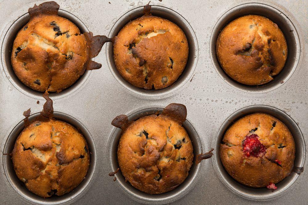 Des muffins aux framboises pour perdre du poids