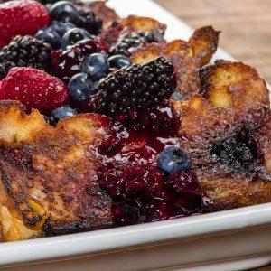 Pouding à déjeuner aux petits fruits