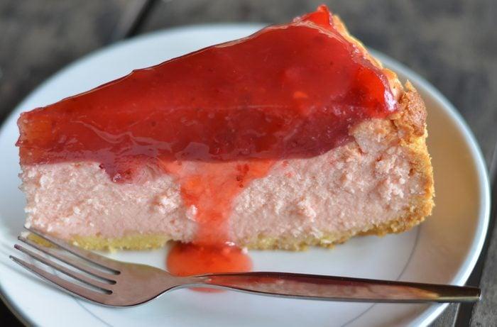 Une tarte congelée au yogourt et fraises pour perdre du poids.