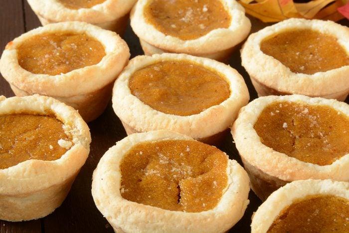 Tartelettes à la citrouille santé.