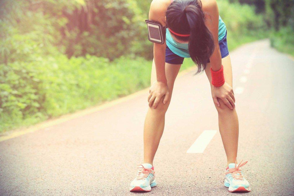 7. Vous vous effondrez après une séance d'entraînement