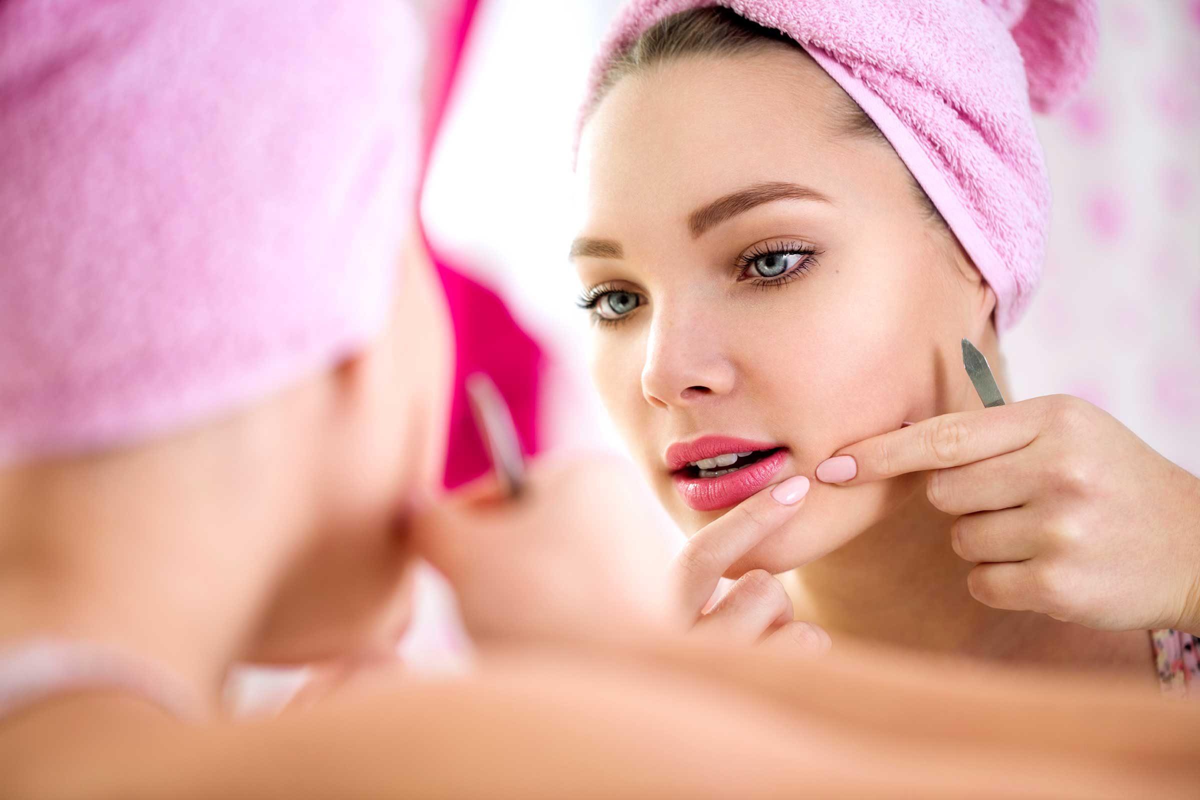acné-stress-santé-vivre sainement