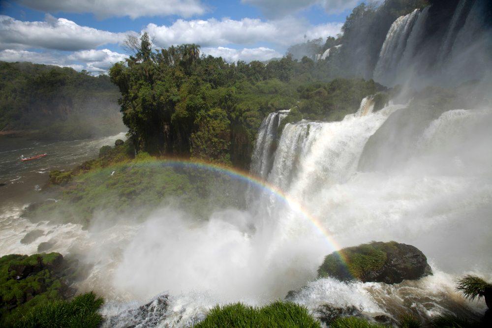 Les chutes d'Iguazú à la frontière de l'Argentine et du Brésil