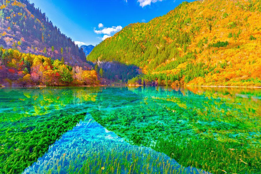 Le lac des Cinq Fleurs en Chine