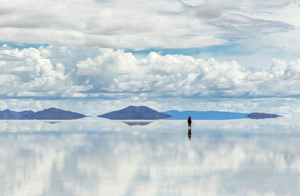 Le désert de sel du Salar d'Uyuni en Bolivie