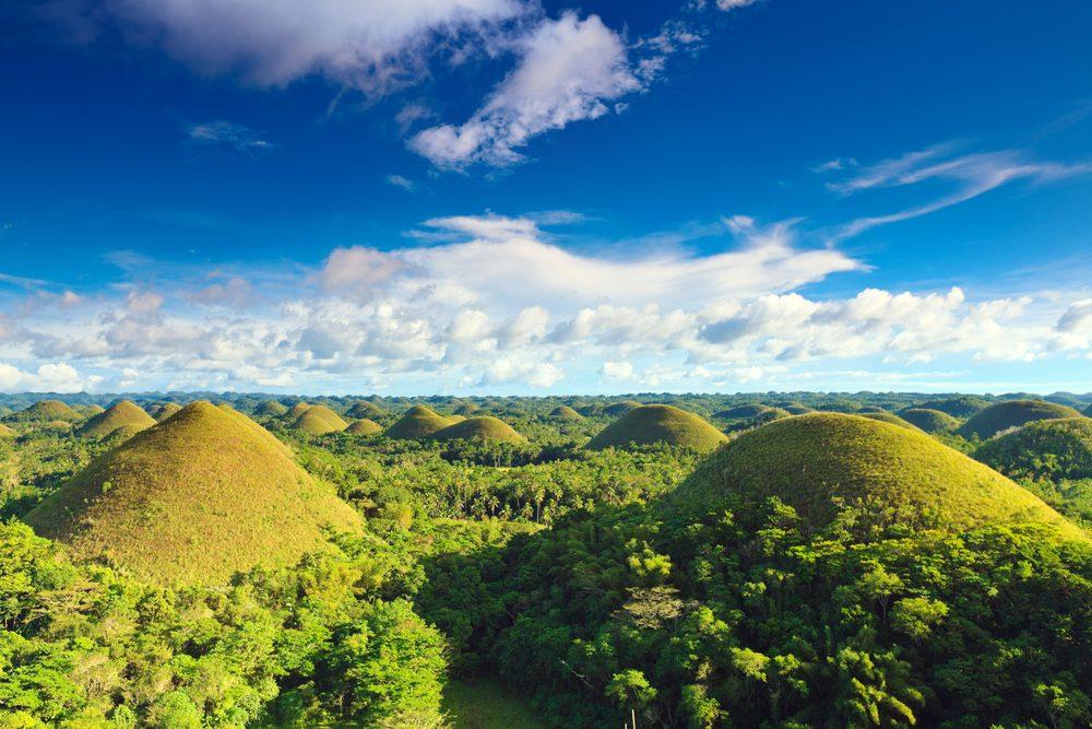 Les collines de chocolat aux Philippines