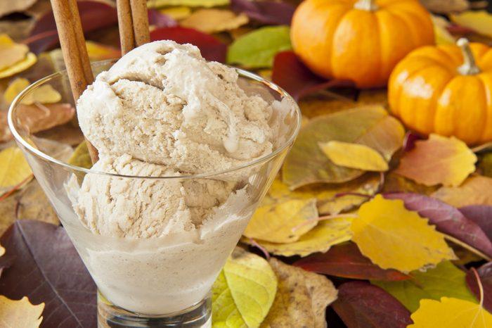 Crème glacée maison à la citrouille