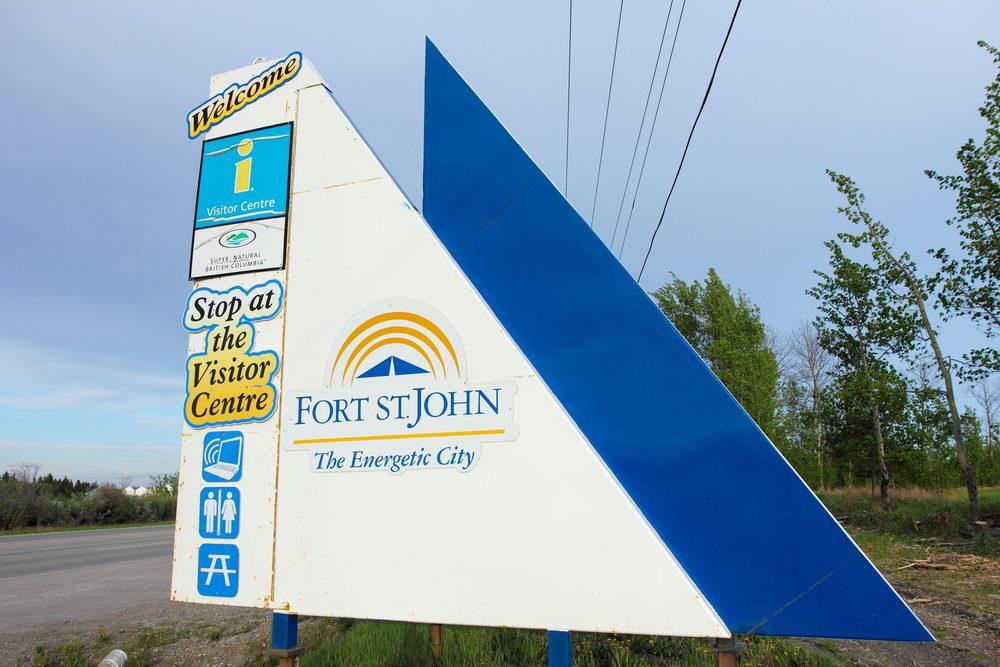 Fort St.-John, ville polluée au Canada.