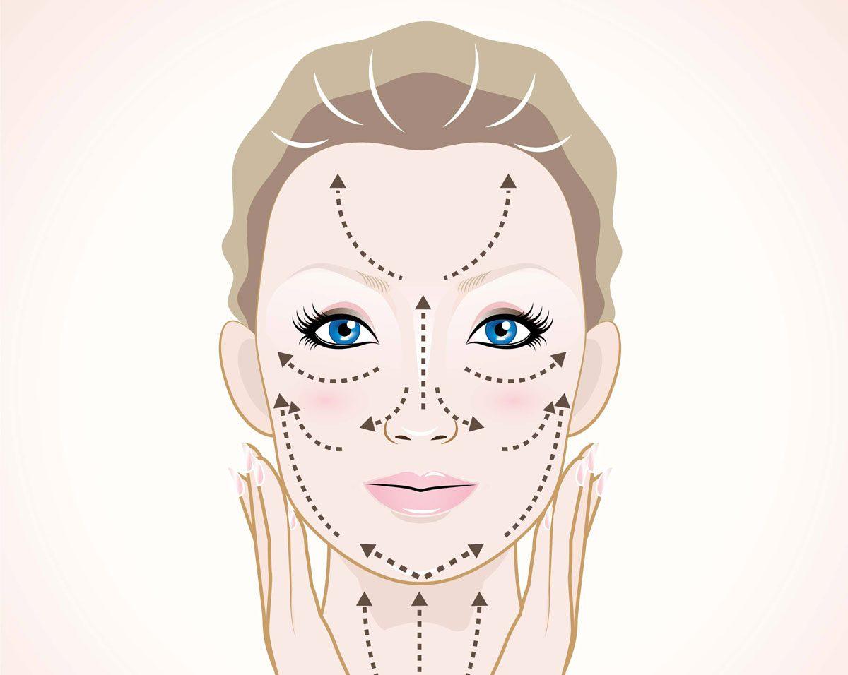 Massage facial maison: faites-le avec vos mains!