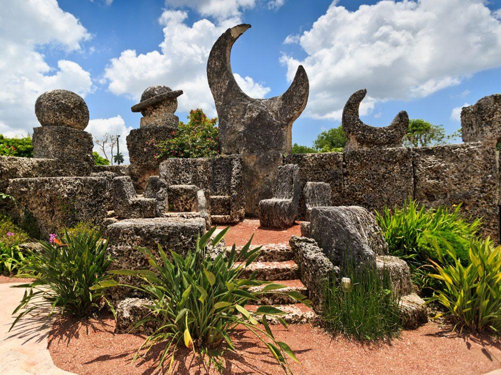 Monuments mystérieux: le château de corail en Floride.
