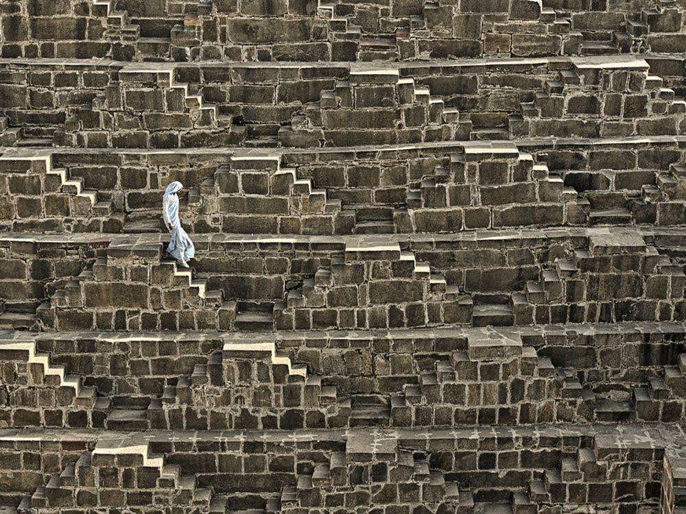 Monuments mystérieux: Chand Baori, en Inde.