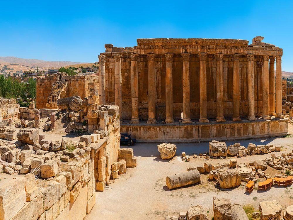 Monuments mystérieux: Baalbek, ancien temple romain.