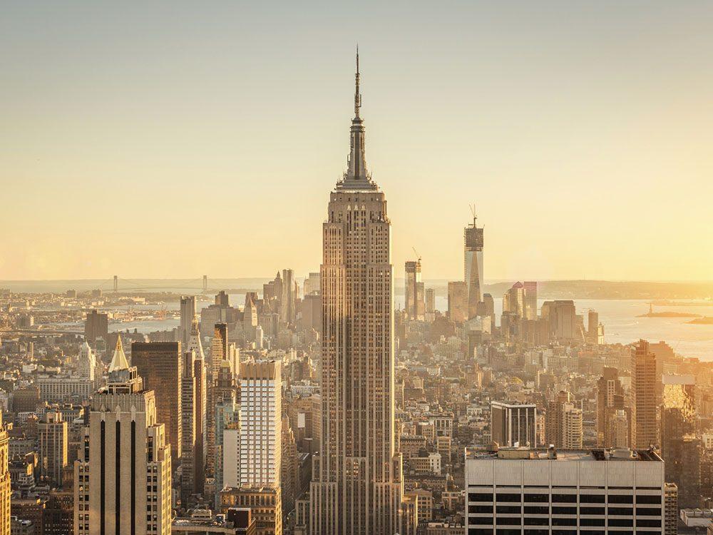 Quoi faire à new york: monter en haut de l'Empire State Building