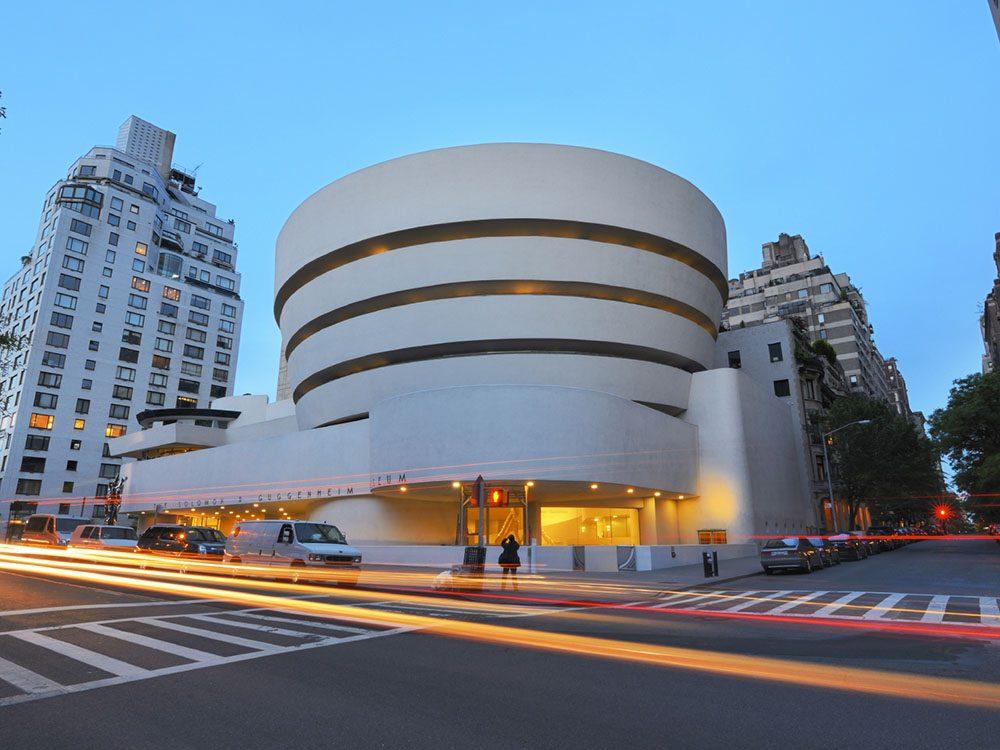 Quoi faire à new york: visiter le musée Guggenheim.