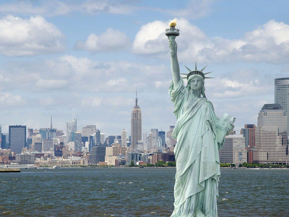 Quoi faire à new york: voir la statue de la liberté.