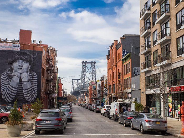 Quoi faire à new york: visiter le quartier Williamsburg.