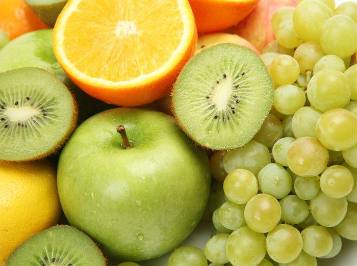 L'effet de l'eau sur les fruits et légumes.