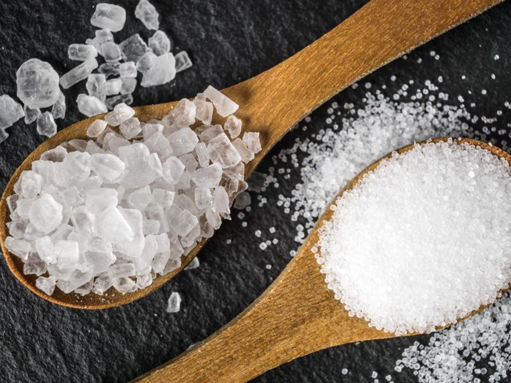 Débarrassez-vous des fourmis avec du sel.