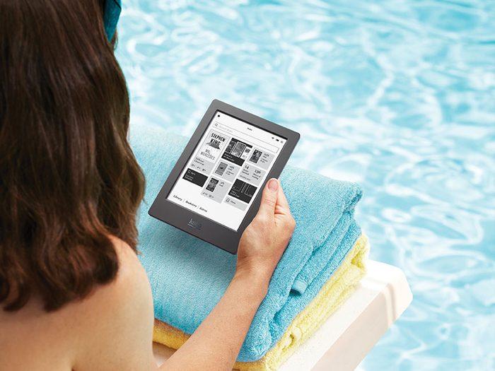 Un lecteur de livres numériques pour votre prochain road trip.