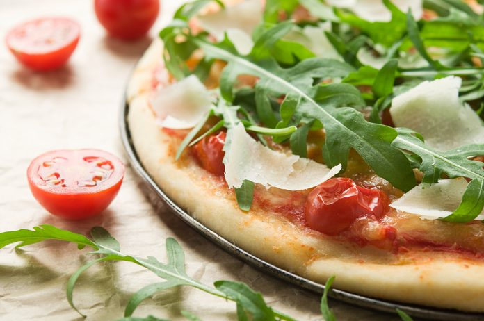 Pizza végétarienne.