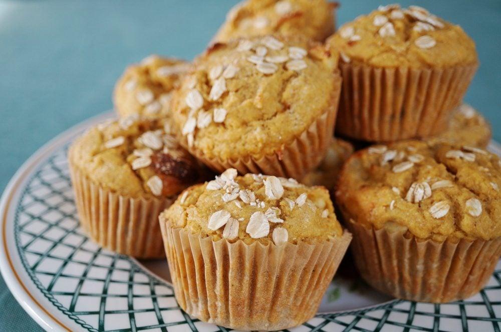 Des muffins aux amandes faibles en glucides