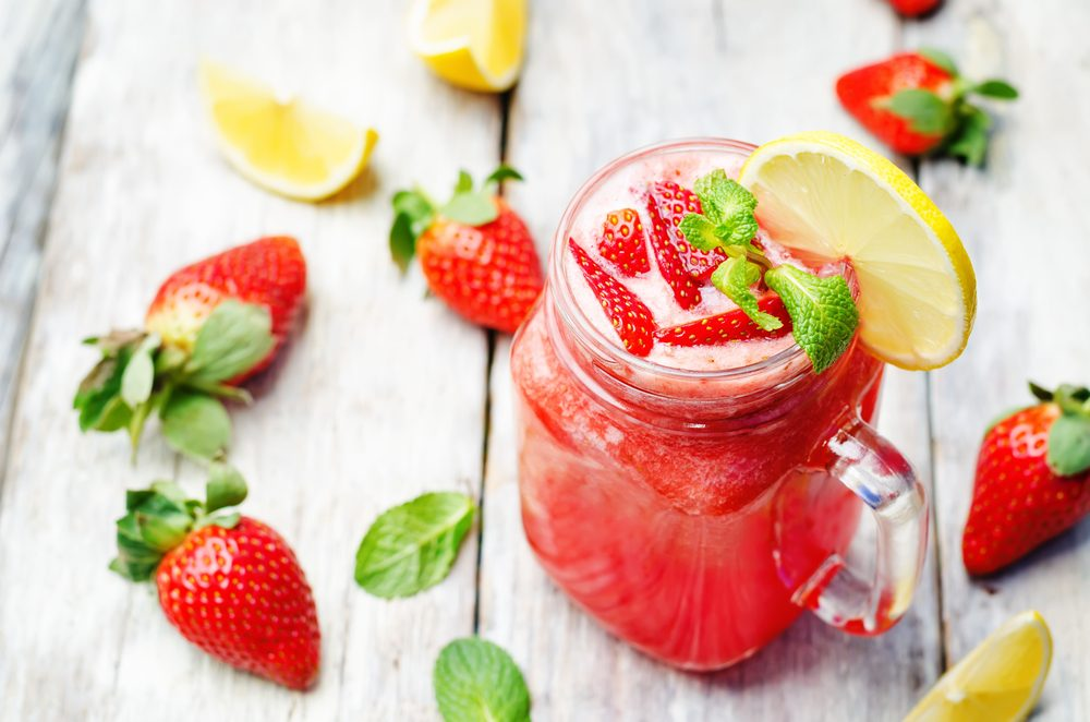 Smoothie limonade à la fraise