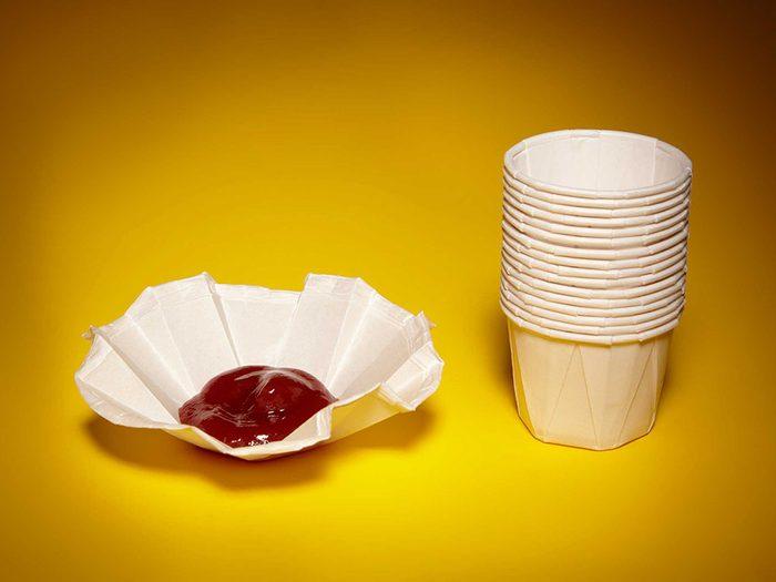 Trucs et astuces à essayer avec les goblets à ketchup.