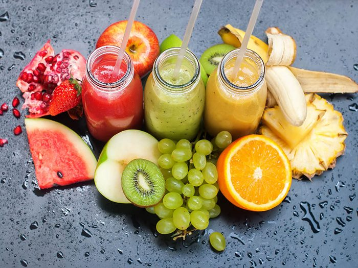 Si vous souffrez de diarrhée, évitez les jus de fruits.