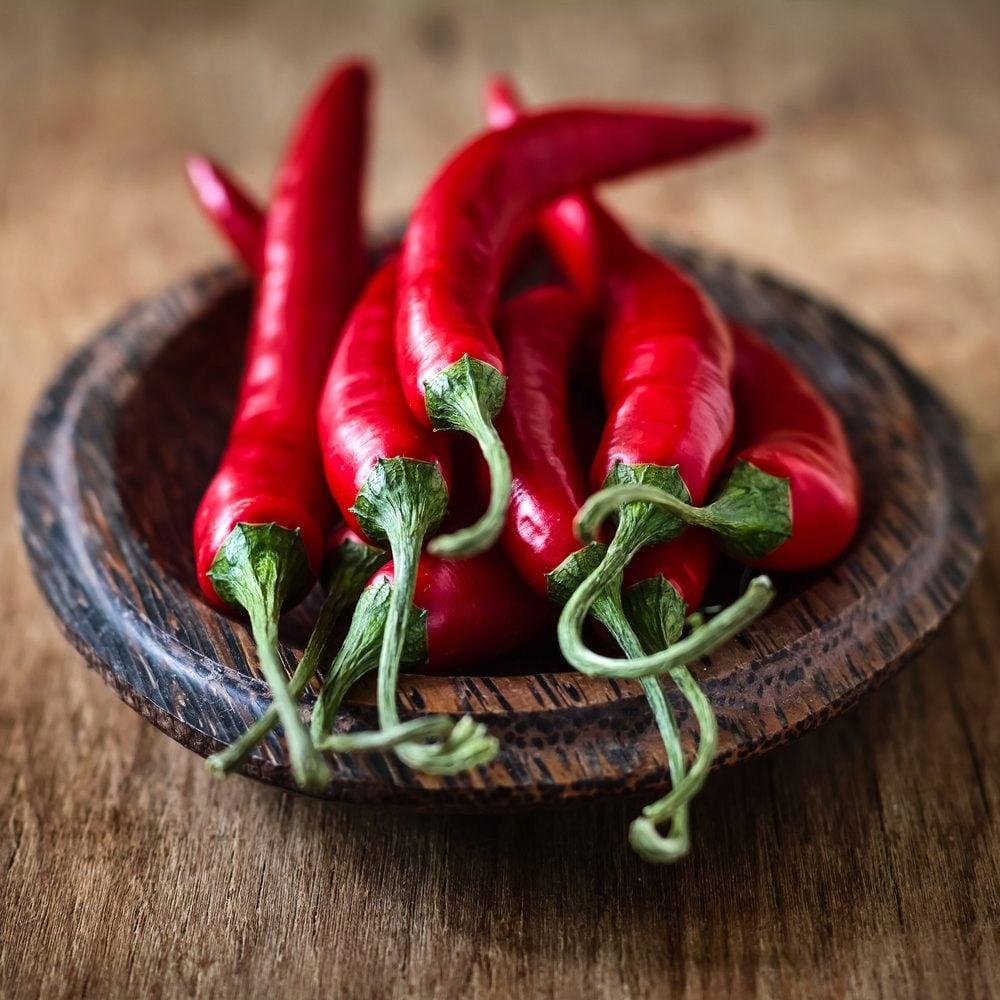 Les piments forts ont des bienfaits et propriétés anti-douleurs.