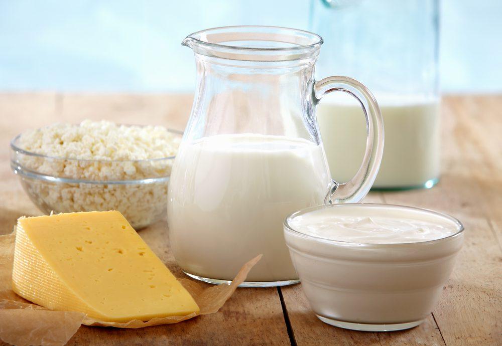 Les produits laitiers peuvent être plus difficiles à digérer avec l'âge.