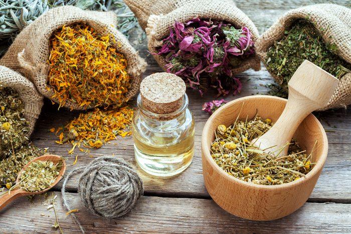 Les plantes médicinales à la base d'un supplément.