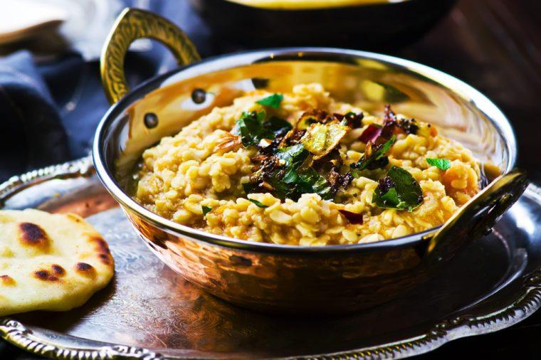 Une recette de dahl indien pour les diabétiques.