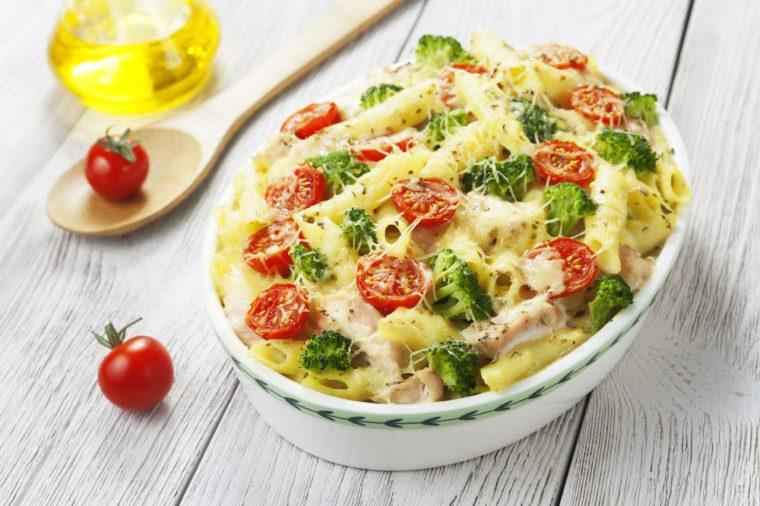 Une recette de gratin de pates végétarien