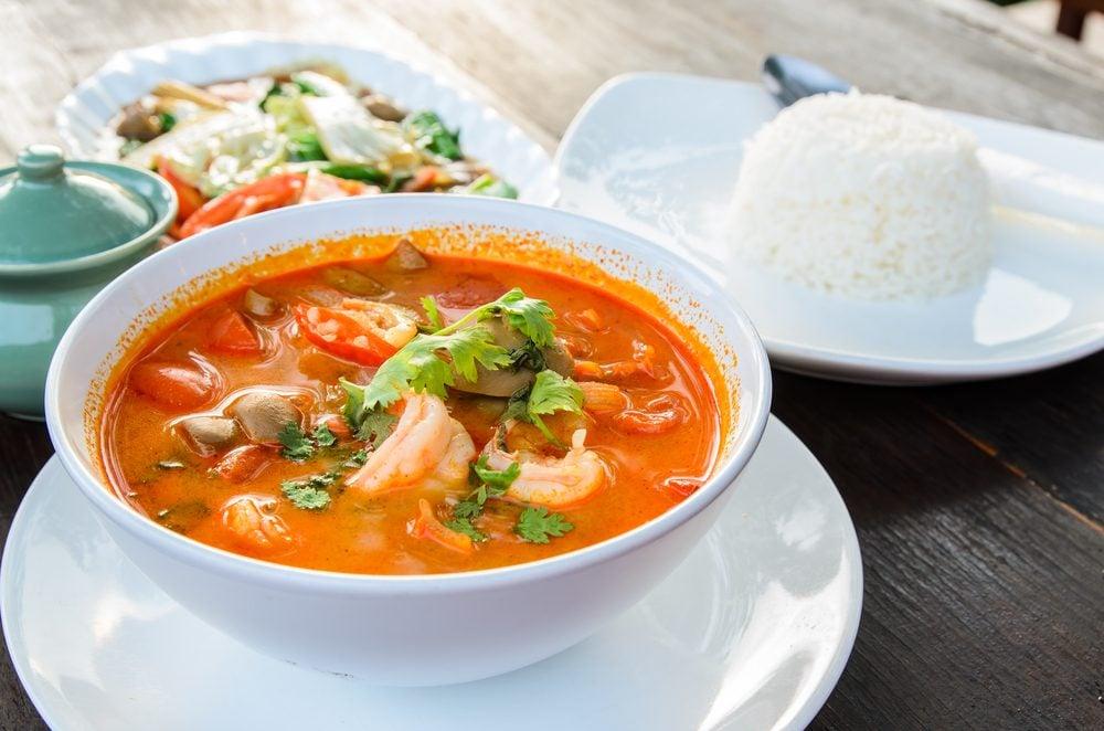 Une recette pour emporter dans le thermos de soupe aux crevettes