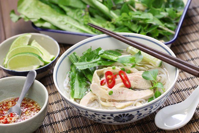 Un lunch pour le thermos de soupe vietnamienne.