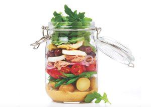 Salade à la niçoise en pot