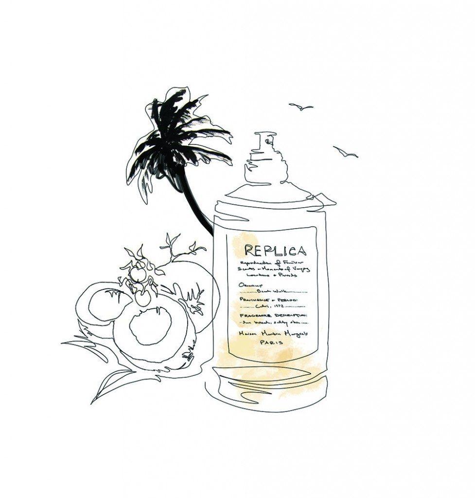 Parfums aux arômes de jardin, citron et lait de coco.