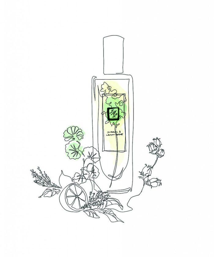 Parfums aux arômes de jardin et herbes fraîches.