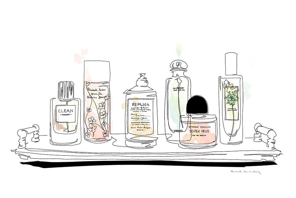 Parfums aux arômes de jardin