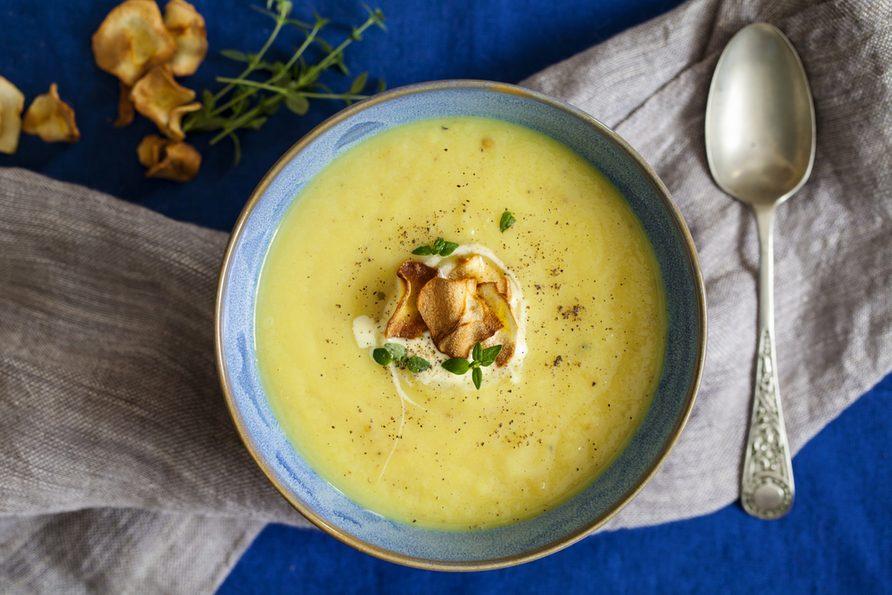 Une recette de potage aux pommes et courge.